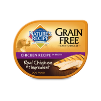 Nature's Recipe Wet Dog Food Grain Free Chicken Recipe in Broth