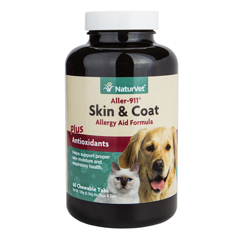 NaturVet Aller-911 Skin and Coat Tabs for Dogs and Cats