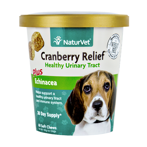 NaturVet Cranberry Relief Plus Echinacea Soft Chews for Dogs NAN