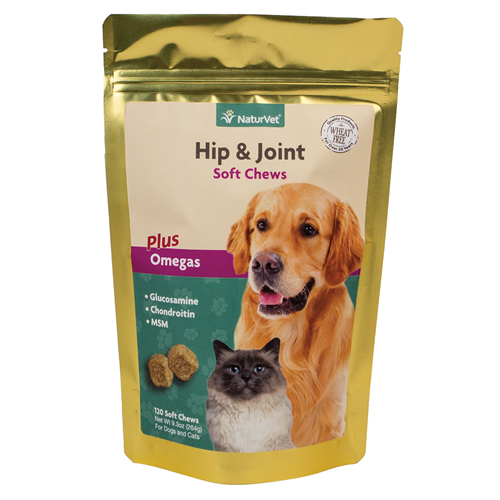 NaturVet Hip & Joint Soft Chew for Cats and Dogs PFX