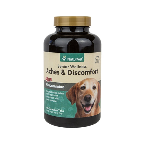 NaturVet Senior Aches & Discomfort Tablets for Dogs PFX NAN