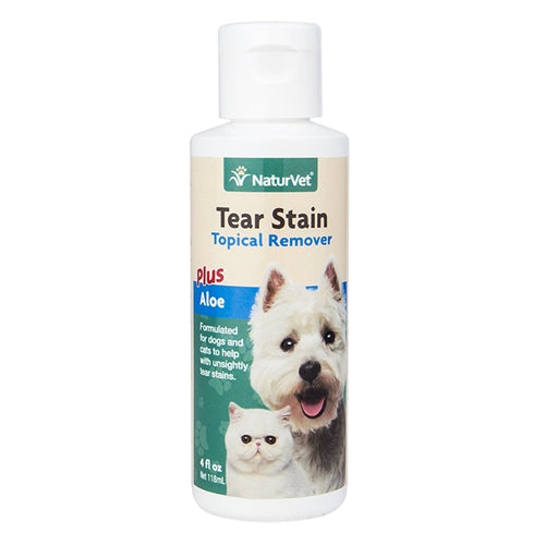 NaturVet Tear Stain Remover for Cats and Dogs PFX NAN