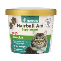 NaturVet Hairball Aid Plus Pumpkin Cat Soft Chews NAN