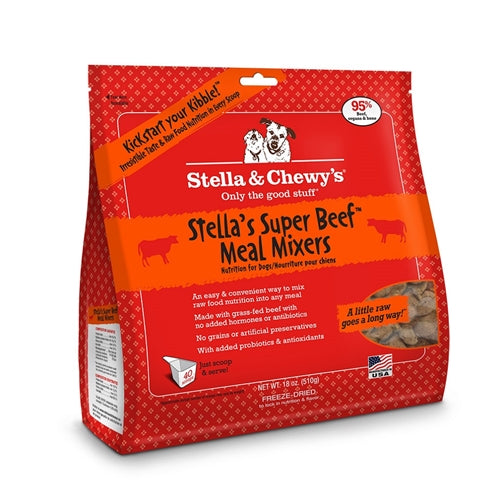Stella & Chewy's Freeze-Dried Super Beef Meal Mixer for Dogs