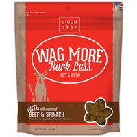 Cloud Star Wag More Bark Less Soft and Chewy Beef and Spinach Dog Treats