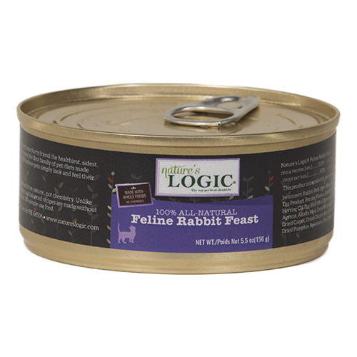 Nature's Logic Feline Rabbit Feast Canned Food