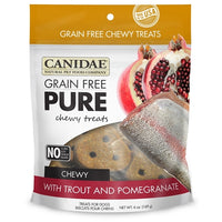 CANIDAE Grain Free pure Chewy Trout & Pomegranate treats for Dogs