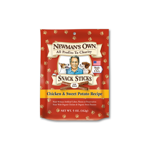 Newman's Own Snack Sticks, Chicken & Sweet Potato Treats for Dogs