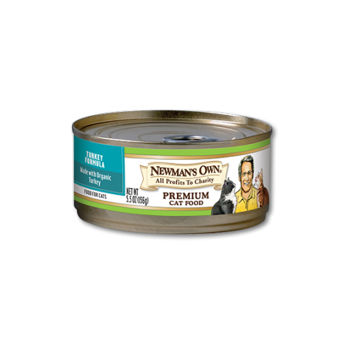 Newman's Own Premium Turkey Canned Food for Cats