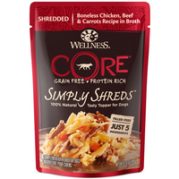 Wellness CORE Simply Shreds Chicken, Beef & Carrots Dog Food