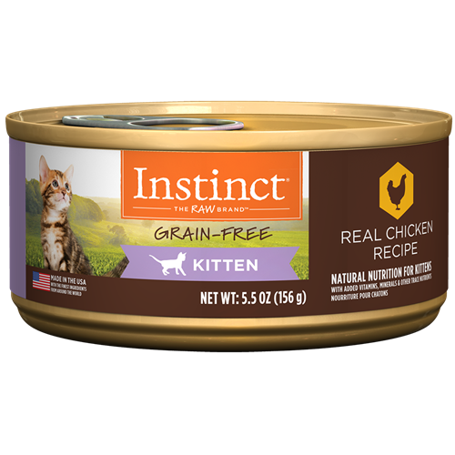 Nature's Variety Instinct Real Chicken Recipe for Kittens Canned Cat Food