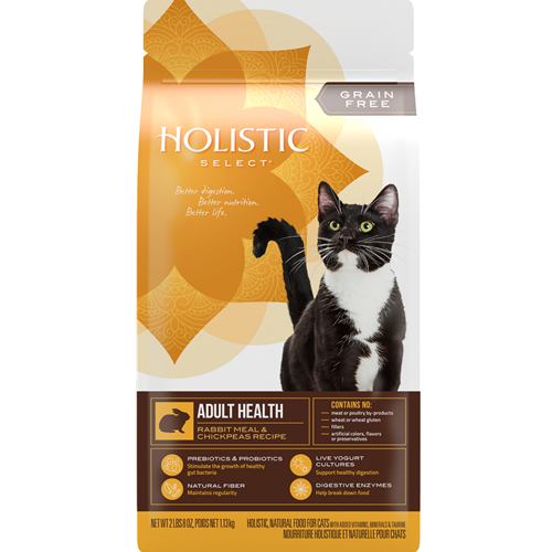 Holistic Select Feline Grain Free Adult Health Rabbit Meal & Chickpeas Recipe