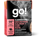 GO! CARNIVORE Grain Free Salmon + Cod Pâté for cats