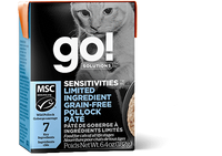 GO! SENSITIVITIES Limited Ingredient Grain Free Pollock Pâté for cats