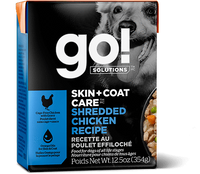 GO! SKIN + COAT CARE Shredded Chicken Recipe for dogs