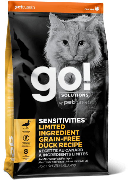 GO! SENSITIVITIES Limited Ingredient Grain Free Duck recipe for cats
