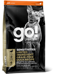 GO! SENSITIVITIES Limited Ingredient Grain Free Duck recipe for dogs