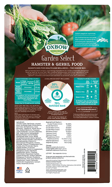 Oxford Garden Select Hamster & Gerbil Food