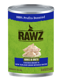RAWZ Hunks in Broth Chicken Breast & New Zealand Green Mussel Recipe