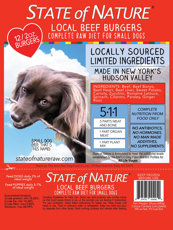 State of Nature Frozen Raw Beef for Dogs