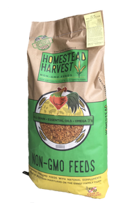 Homestead Harvest Non-GMO Turkey & Game Bird Grower 24% For growing turkeys, peacocks, guineas, and pheasants