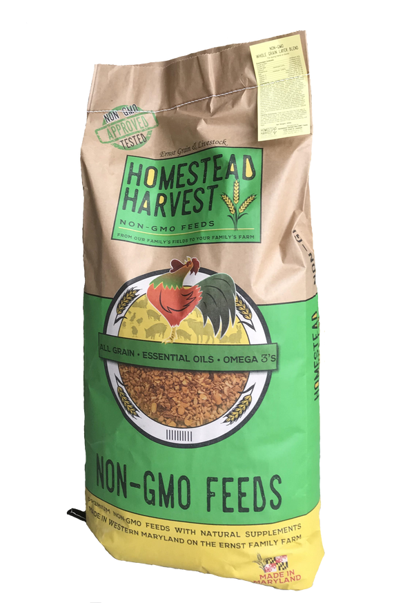 Homestead Harvest Non-GMO Soy-Free Corn Free Whole Grain Layer Blend 16% For laying hens or ducks