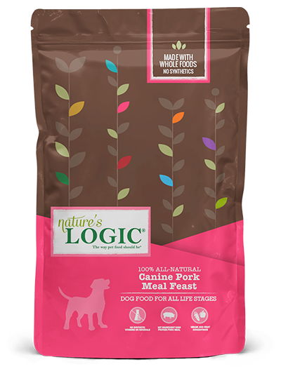 Nature's Logic Pork Meal Feast Dry Food for Dogs