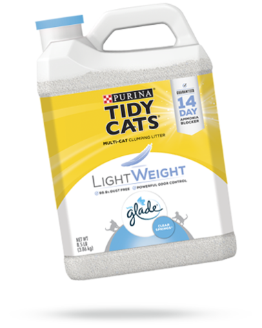 Tidy Cats Lightweight with Glade Clear Springs Cat Litter