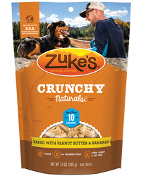Zuke's Crunchy Naturals 10s Baked with Peanut Butter & Bananas