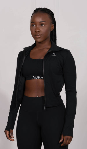 Classic Black Endurance Zip-up Jacket