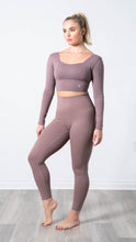Load image into Gallery viewer, Elevate Mauve Mood Legging