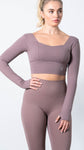 Elevate Mauve Mood Long Sleeve Top