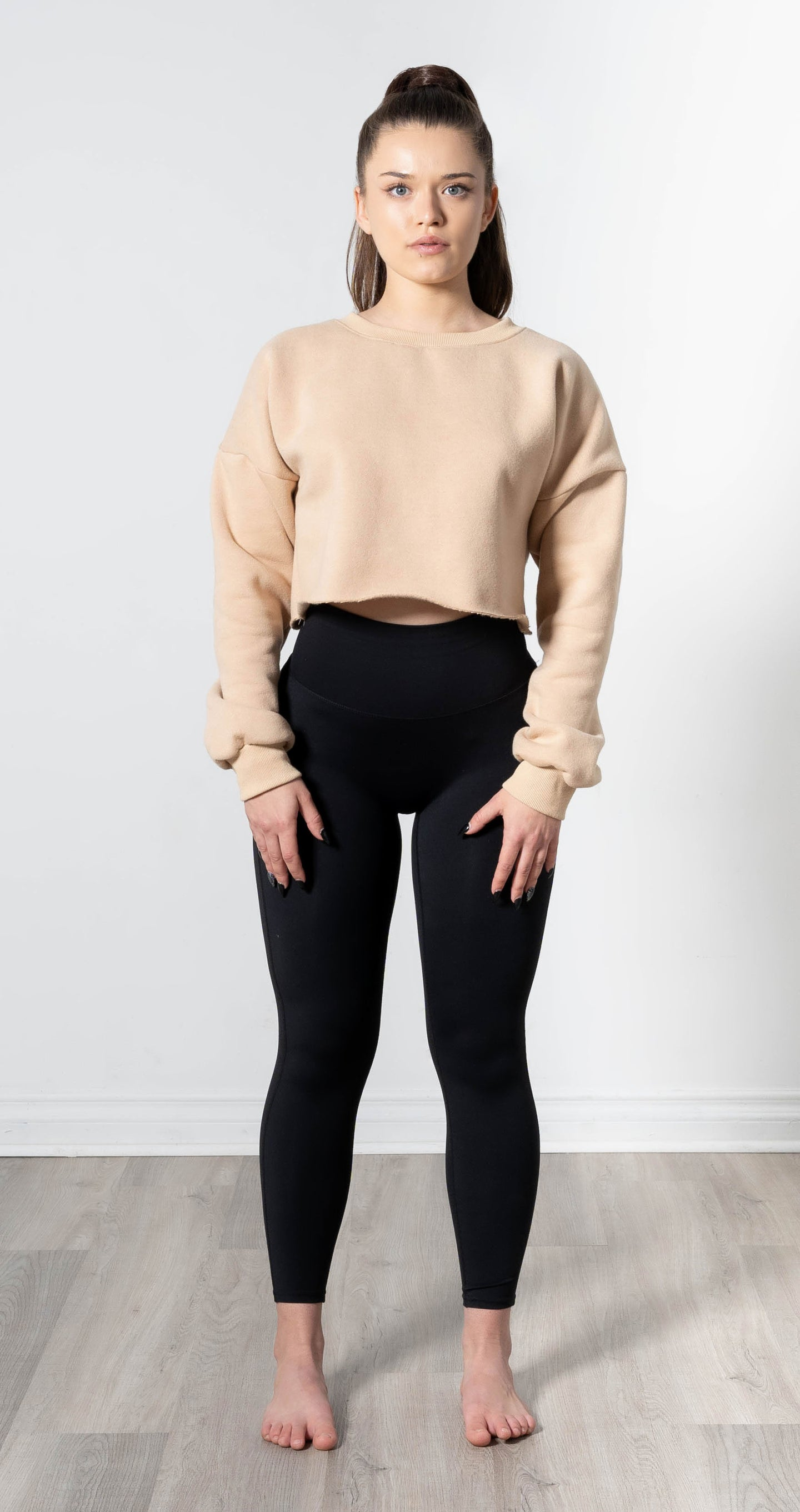 Snuggle'up Neutral Ivory Cropped Pullover
