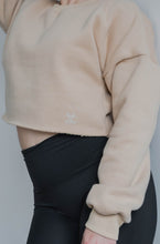 Load image into Gallery viewer, Snuggle'up Neutral Ivory Cropped Pullover