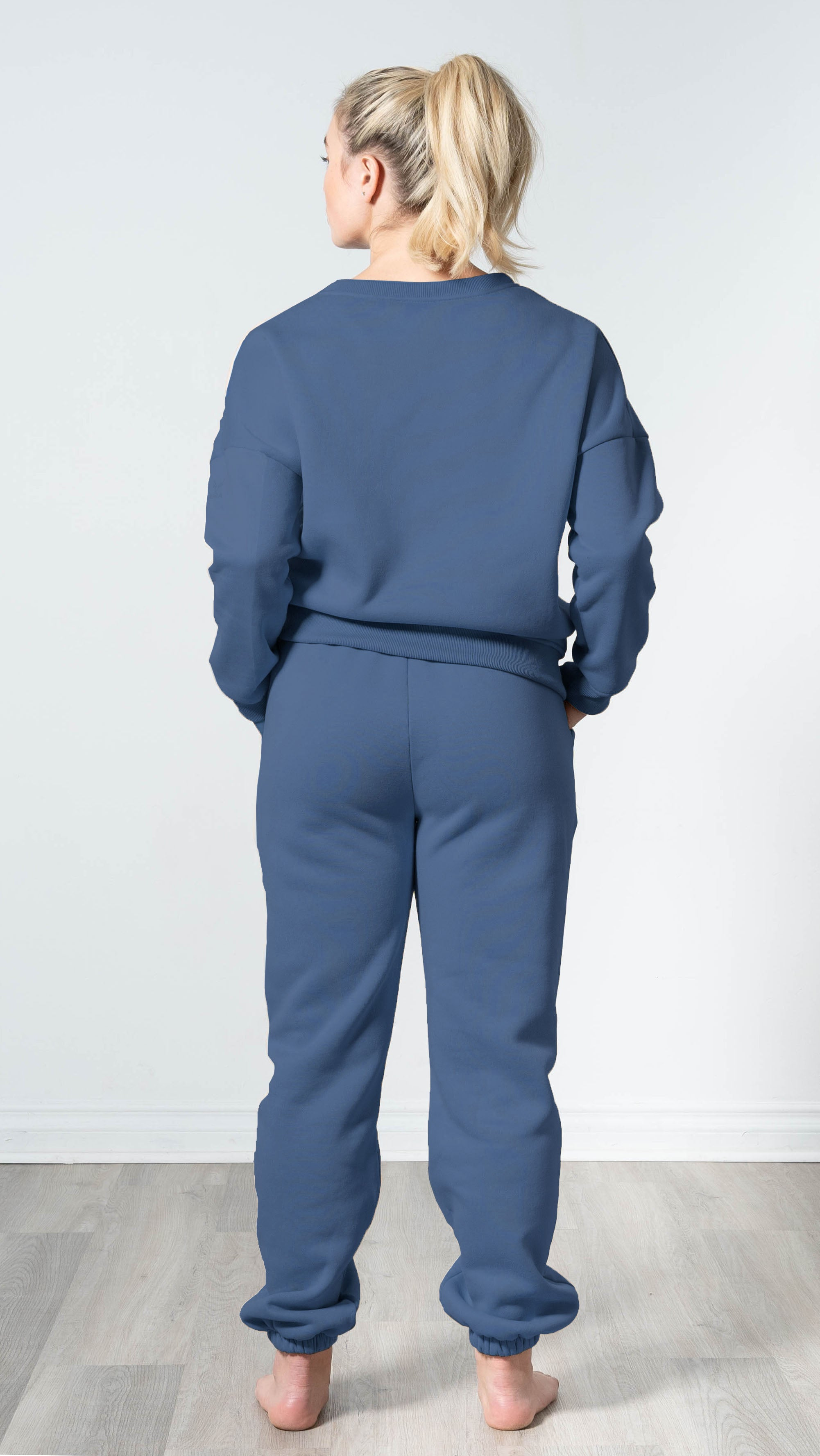 Snuggle'up Smoky Blue Oversized Sweatpants