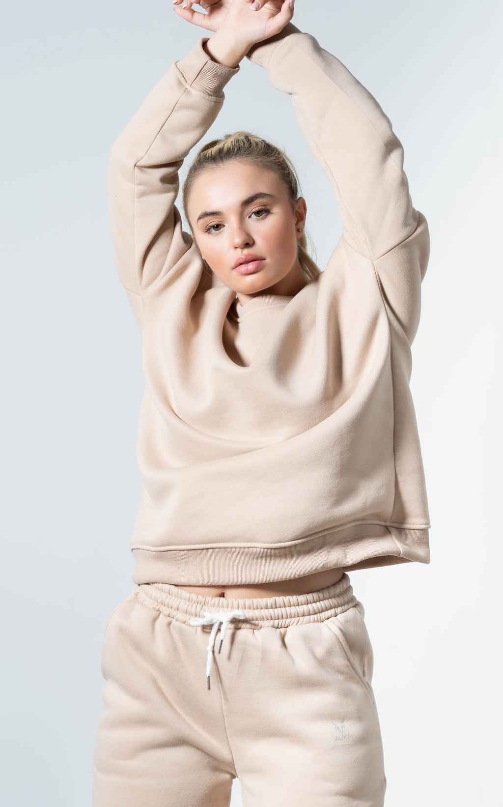 Snuggle'up Champagne Oversized Sweater