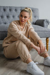 Snuggle'up Champagne Oversized Sweatpants