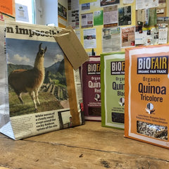 Newspaper Bag featuring Llama suits Quinoa!