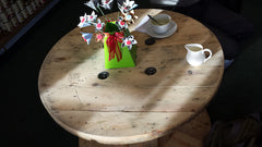 Beautiful upcycled Cafe table