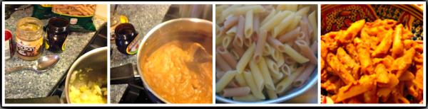 Easy Tahini Pasta in 4 stages