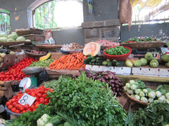 Fresh organic vegetables produced locally without chemicals