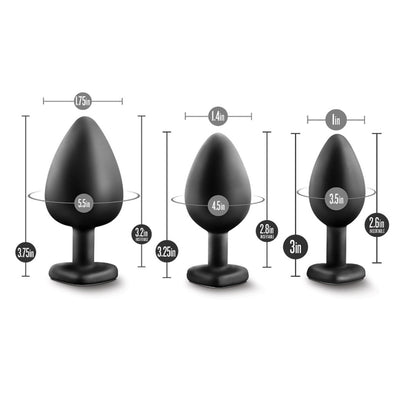 blingy butt plug trio measurements