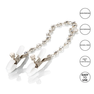 Crystal Chain Nipple Clamp Flat