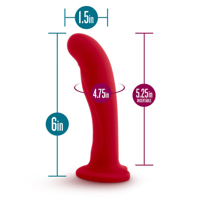 Jezebel G-spot Dildo with Heart Suction-Cup Base Specs