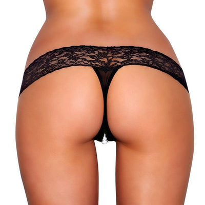 Stimulating Lace Panties with Pearl Pleasure Beads
