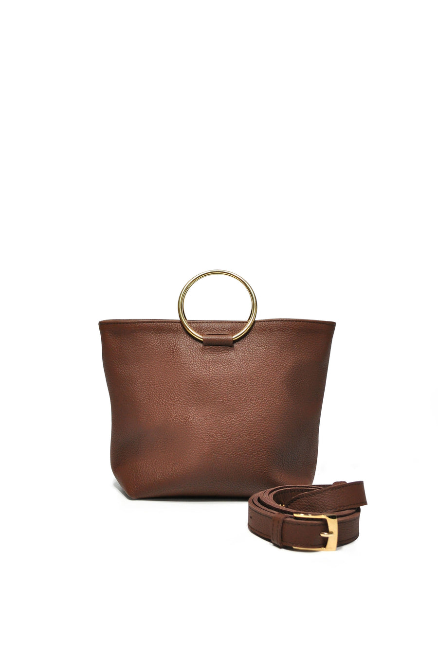 Mini Audrey Crossbody Brown Leather - Positive Elements