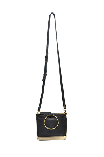 Joy Leather Cross Body Black/Gold - Positive Elements