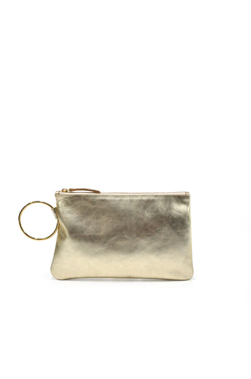 Gavi Leather Clutch - Gold - Positive Elements