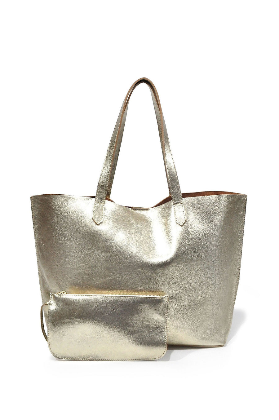 Edge Leather Tote Gold - Positive Elements