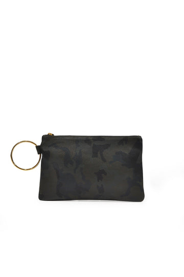 Gavi Leather Clutch - Green Camo - Positive Elements